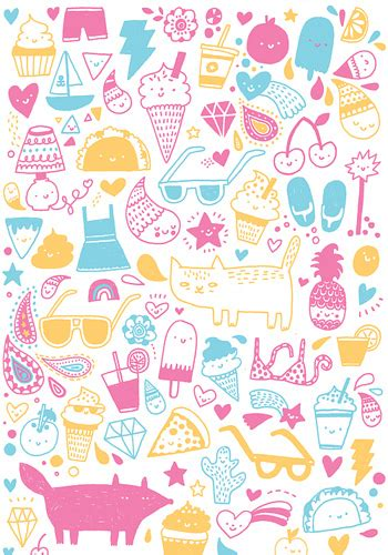 girly doodle wallpaper cute doodles kawaii i think that means cute