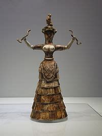minoan snake goddess figurines wikipedia