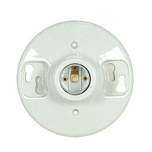 Ceiling Receptacle by Satco 80 1648 80 1648 Keyless Glazed Porcelain Ceiling