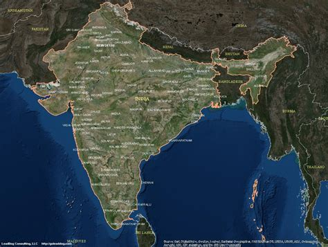 maps satellite image india satellite maps leaddog consulting