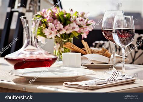 fancy place setting stock photo image of folded fancy fine restaurant dinner table place setting stock photo