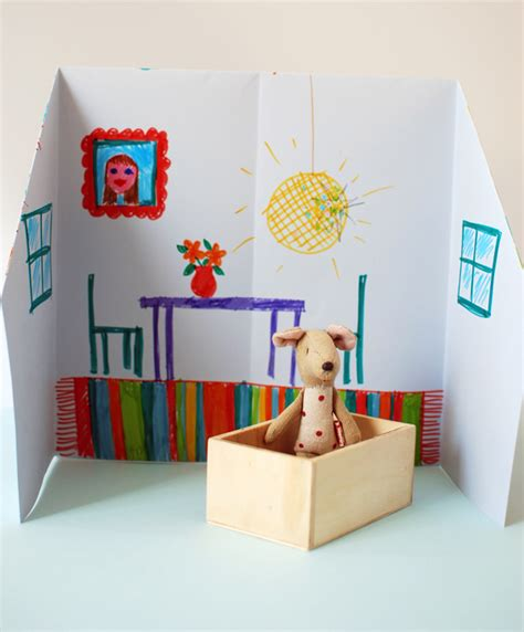 crafty house make an adorable origami doll house