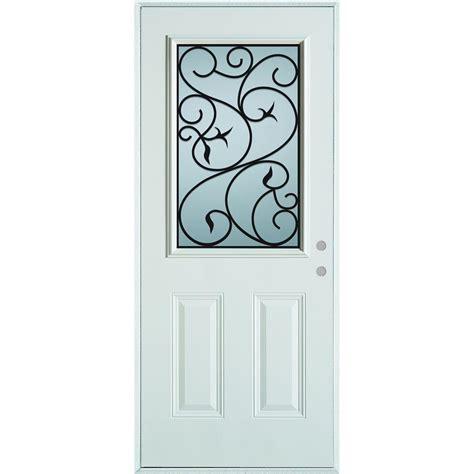 Stanley Door Glass Replacement Stanley Doors 32 In X 80 In Silkscreened Glass 1 2 Lite