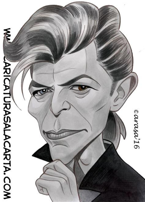 fotos en blanco y negro famosos caricaturas de famosos cantantes david bowie