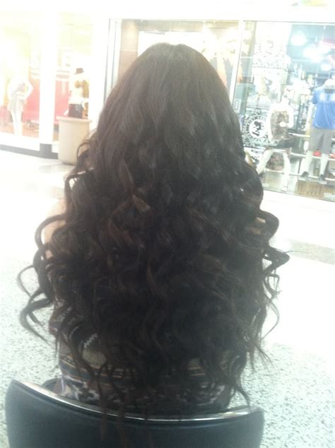 wand for long thick hard to curl hair tight curls for long hair done with wand hair