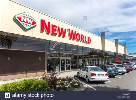 tlatet convenience stores and supermarkets new world supermarket store christchurch new zealand stock