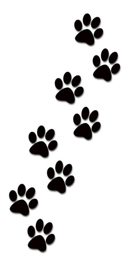puppy paw prints free puppy paw prints coloring pages