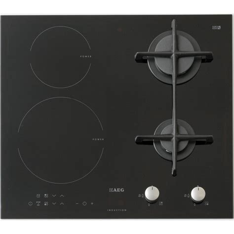table de cuisson mixte gaz vitroceramique test aeg hd634170nb tables mixtes induction et gaz ufc