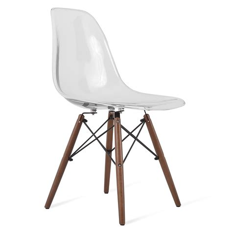 clear plastic dining chairs eames style dsw clear acrylic plastic dining shell chair