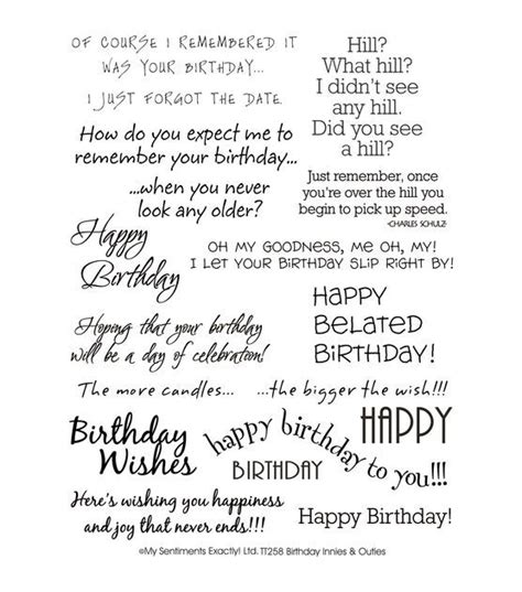 Birthday Card Sentiments For