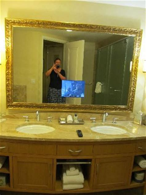 bathroom mirror tv screen bathroom with tv screen in mirror picture of trump