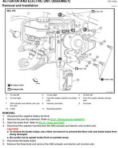 Bleeding Abs Brake System Nissan How Do You Change A Abs Module On A 2004 Nissian Titan