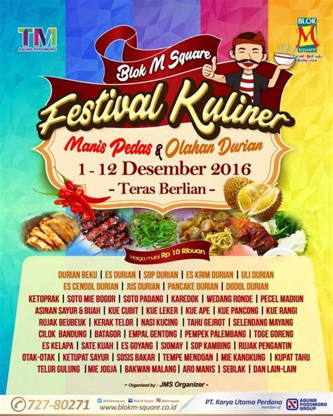 festival kuliner manis pedas olahan durian blok