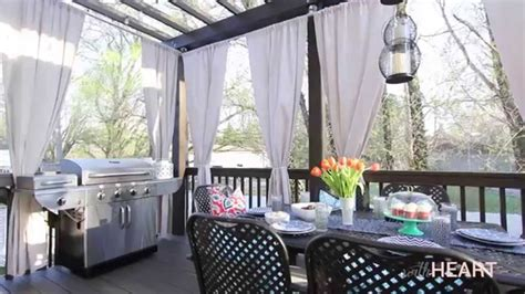DIY Galvanized Pipe Rods & Drop Cloth Drapes   withHEART