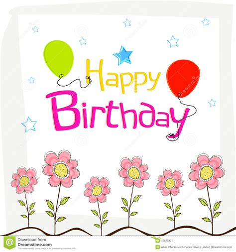 design poster happy birthday happy birthday wishes poster design with decoration stock