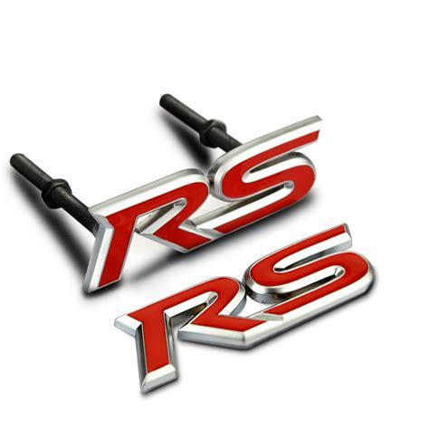 Emblem Rs Honda 1 car sticker grille emblem grill badge for cruze mondeo rs letters metal 7 5x2 5cm tuning