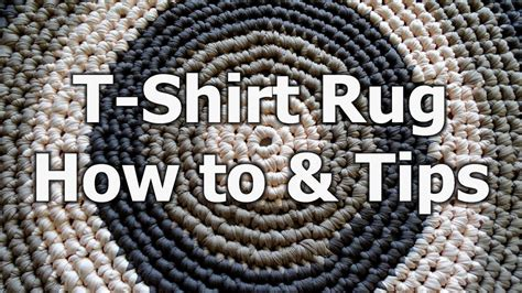 How To Crochet A Rug Out Of T Shirts by T Shirt Yarn Rug Allfreecrochet
