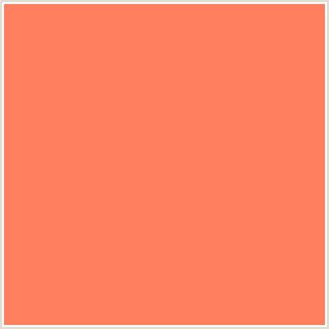 salmon color code ff7f5f hex color rgb 255 127 95 coral orange