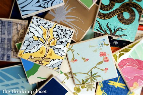 Craft Card Wallpaper | anthropologie wallpaper coasters copycat crafts