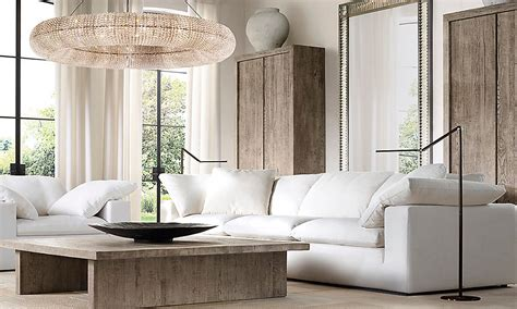 restoration hardware cloud sectional rooms rh