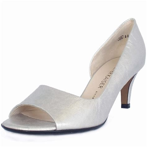 shoes silver kaiser jamala open toe shoes in silver leather