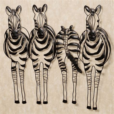 Statues And Sculptures Home Decorating by You Go Your Way Zebra Metal Wall Sculpture Art