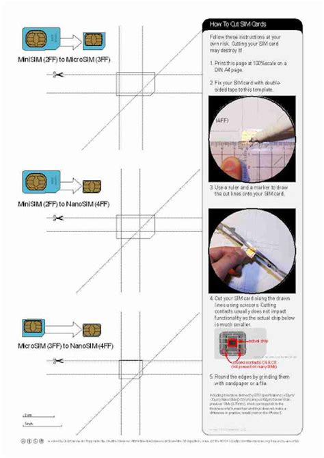 Nano Sim Cutting Template nano sim cutting template pdf images