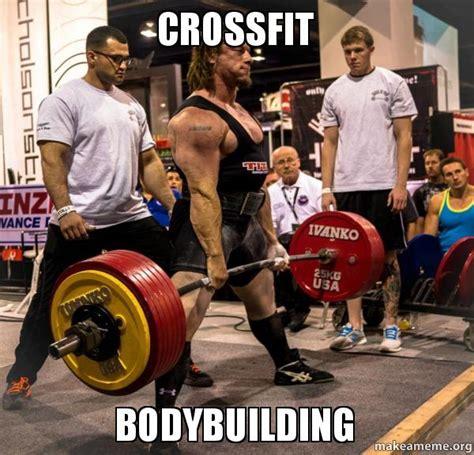 Female Bodybuilder Meme - crossfit bodybuilding make a meme
