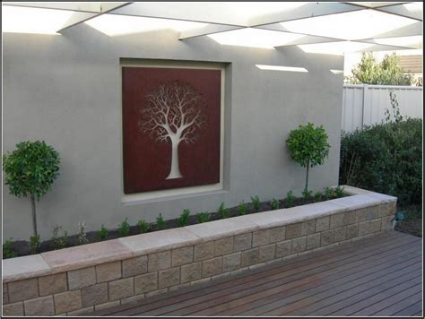 patio wall ideas beautify your patio trough garden wall art ideas