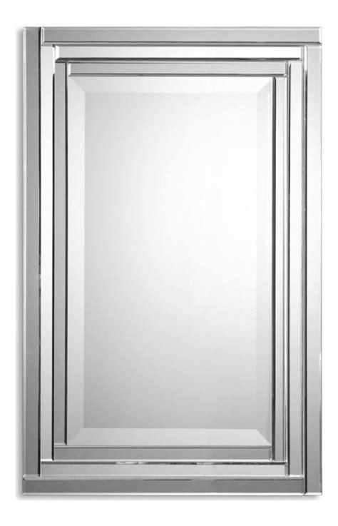 Beveled Vanity Mirror by Uttermost B Beveled Glass Alanna Frameless Rectangular