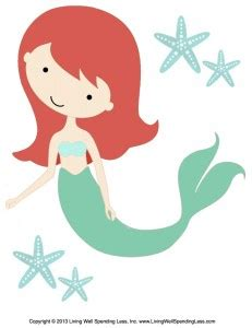 6 best images of mermaid printable cut out templates