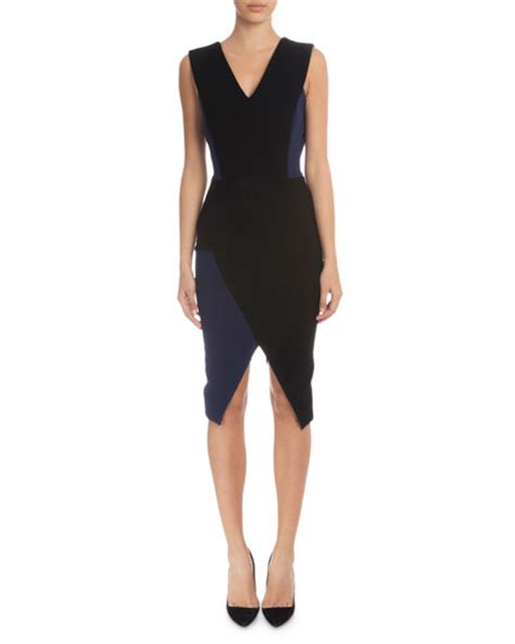Beckham Sell Outs A Dress Before It Hits The Shop Floor by Beckham Sleeveless V Neck Sheath Dress Black