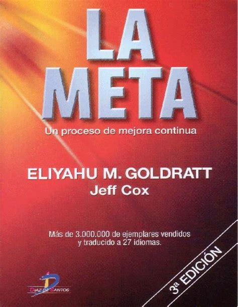 meta ele libro del 849081340x la meta eliyahu goldratt
