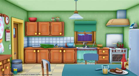 Animated Kitchen Pictures by Garfield S House The Garfield Show The Animated Series