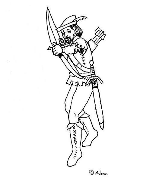 coloring pages for robin hood coloring pages for kids by mr adron free robin hood
