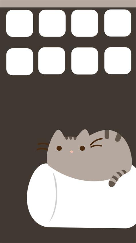 pusheen cat wallpaper iphone pusheen iphone 5 wallpaper by symphonicfire on deviantart