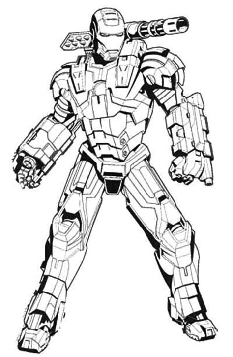 big iron man coloring pages iron man machine coloring page coloring galore pinterest