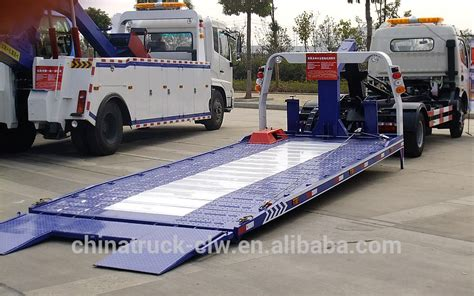 tow truck bed cheap price for platform road wrecker towing truck flatbed