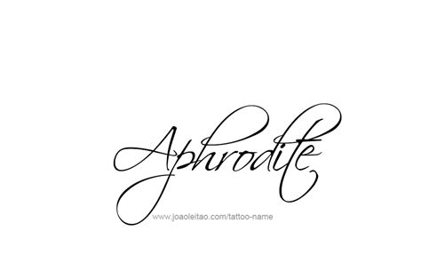 aphrodite tattoo designs design mythology name aphrodite 07 png