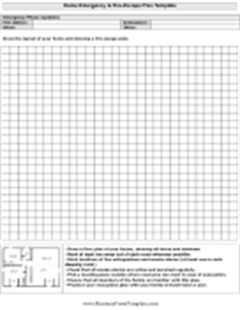 printable escape plan template miscellaneous forms templates