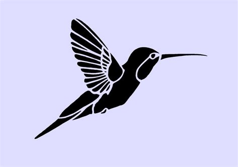 printable hummingbird stencils hummingbird stencil 5x3 5 by artisticstencils on etsy