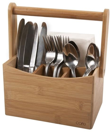 cutlery holder for table bamboo cutlery caddy modern york by bamboo