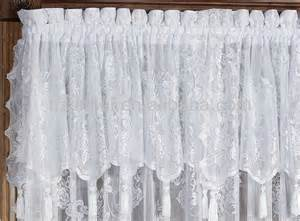 Lace Curtains With Attached Valance Lace Curtain Panel With Attached Valance Buy Polyester Lace Curtain Lace Curtain Panel