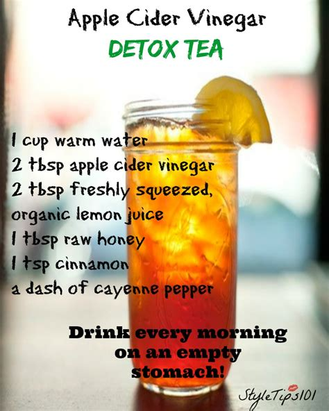 How To Detox With Apple Cider Vinegar by Apple Cider Vinegar Detox Tea