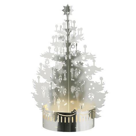 jette frolich design matte silver christmas tree tealight