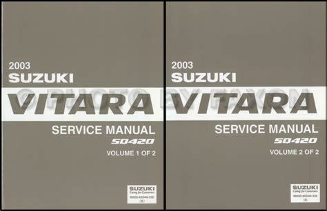 how to download repair manuals 2003 suzuki grand vitara electronic toll collection 2003 suzuki grand vitara xl 7 repair shop manual set original