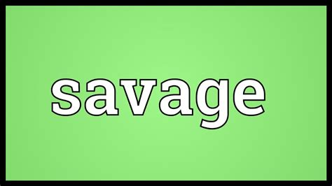 what is the meaning of savage meaning
