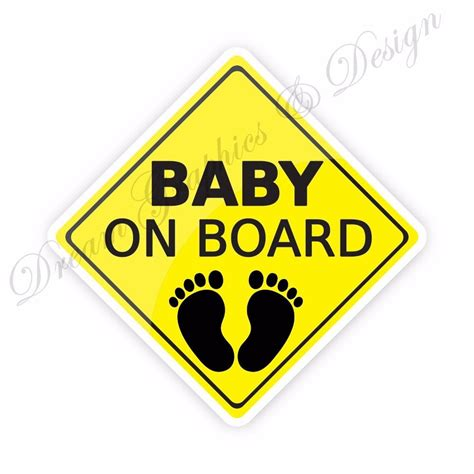 Baby On Board Sticker by Baby On Board Full Color Adhesive Vinyl Sticker Window Car