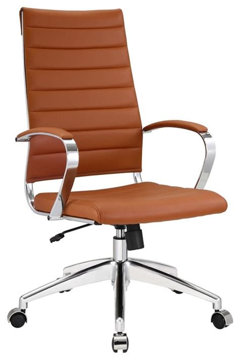 beige office desk chair aria leather high back office chair tan modern office chairs