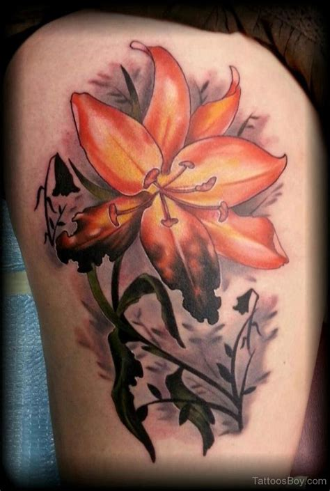 oriental lily tattoo designs tattoos designs pictures page 3